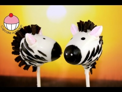 Make Zebra Cake Pops - Jungle. Safari Party Ideas - A Cupcake Addiction How To Tutorial
