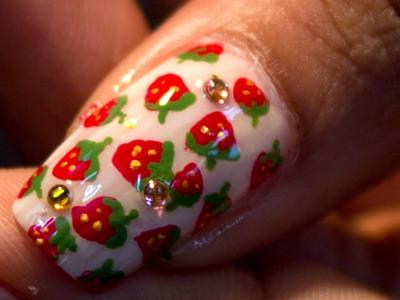 Mini Strawberry NailArt Tutorial