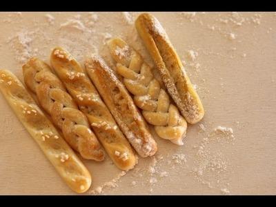 Miniature Bread Tutorial || BAGUETTE, BRAIDED, PLAIN