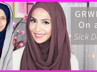 MY SICK DAY MAKEUP & HOOJAB STYLE! GRWM | Amena