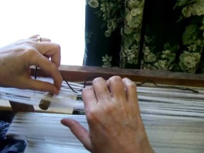 Nancy Today: (Warp 3) How to tie groups of warp threads on the warp mill (weaving 3) ASMR weaving