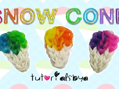 NEW EASY Snow Cone Charm Rainbow Loom Tutorial