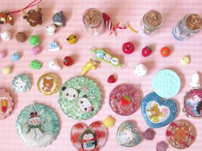 Polymer Clay & Resin Charm Update #17 - Sumikkogurashi, Kawaii Characters and More!