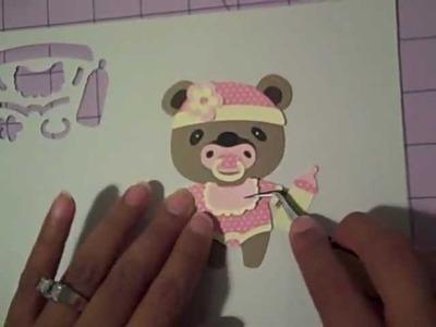Putting together BABY Bear using Cricut Teddy Bear Parade