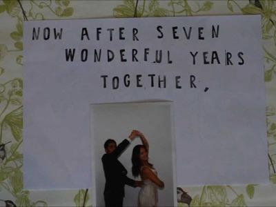 Ray & Sarah's stop motion wedding invitation