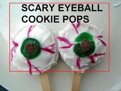 SCARY EYEBALL HALLOWEEN COOKIE POPS, party treats,