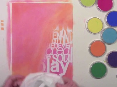 Sealing PanPastels with a Gelli Plate