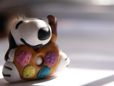 Snoopy Charm: Polymer Clay