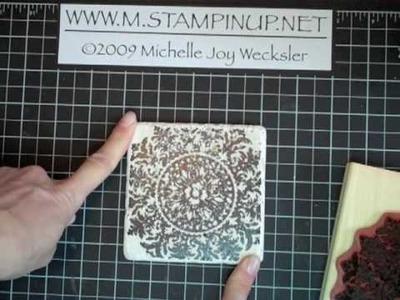 Something Else:  Stamped Tile Coasters