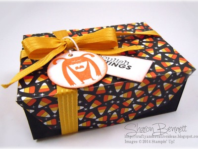 Stampin Up Gift Card Envelope Thinlits Halloween Box