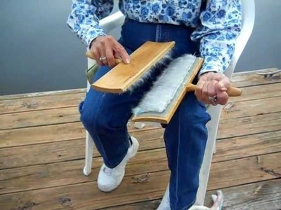 Step #1 Cotton Carding And Making Punis For Spinning Cotton Yarn with Joan Ruane.
