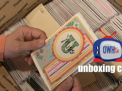 Unboxing Sherry's cards