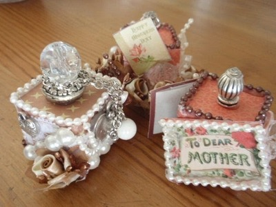 ALTERED MINI CUBES (HANDMADE GIFT IDEAS)