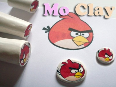 Angry Bird polymer clay cane tutorial - Millefiori