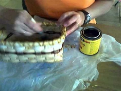 Basket Weaving Video #12--Staining Your Basket