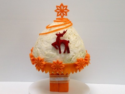 Best And Simple Christmas Tree Part 4 - Beginners L 56 By Mutita Art Of Fruit And Vegetable Carving