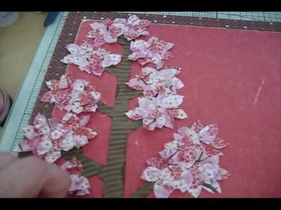 """Cherry Blossom Tree-12x12 Layout""- A Work In Progress, Feat Crate Paper :)"