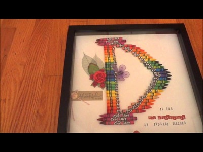 Christmas Gift Idea ~ Monogram Letter made from Crayons