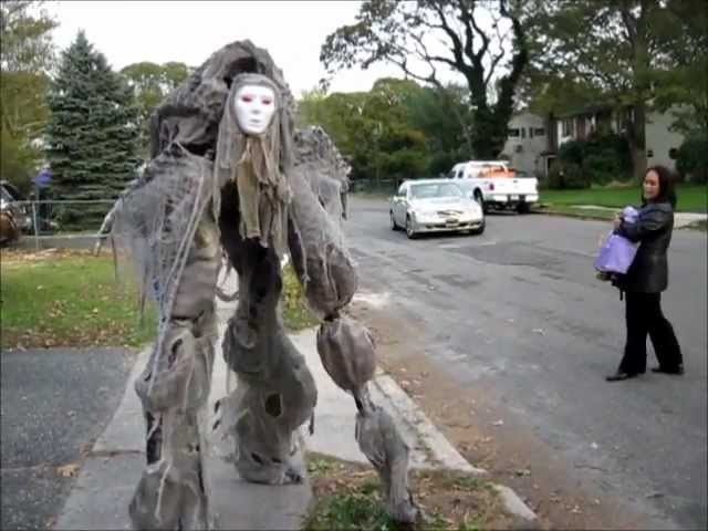 Creepy Creature quad Stilt Costume Halloween 2011 - Handmade