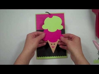 Cricut Episode 189 - Princess Ice Cream Cone Card