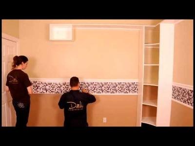 Dali Decals - Modern Mosaics Installation - Wall Decals