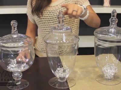 Dessert Table Decor: Glass Apothecary Jars