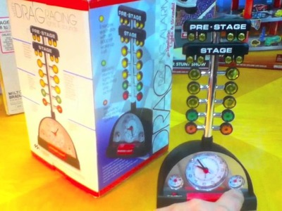 Drag Racing Starting Line Tree Alarm Clock on ToyReviews YouTube Toy Review Channel