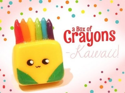 ◕‿‿◕ Crayons! Kawaii Friday 54 (Tutorial in Polymer Clay)