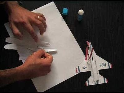 F16 Thunderbird Fighting Falcon Paper  Plane