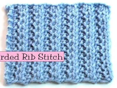 Fancy Stitch Combo - Corded Rib