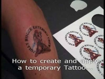 How to create Temporary Tattoo with TheMagicTouch® Tattoo2.1 Transfer Paper