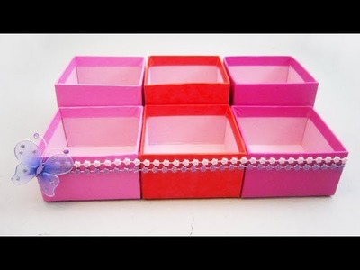How to make a cosmetics organizer with gift boxes (◕‿◕✿) - EP
