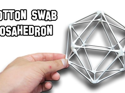 How To Make a Cotton Swab Icosahedron | Cool Science Experiment