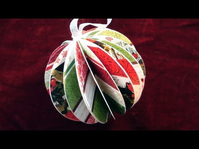 How To make a Paper Ball Christmas Ornament