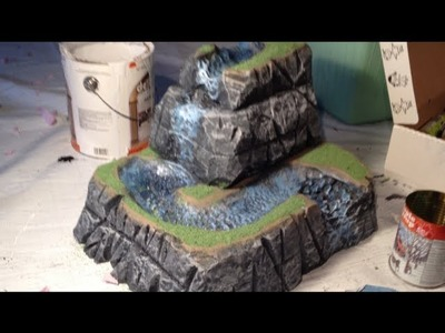 How to make a realistic waterfall model