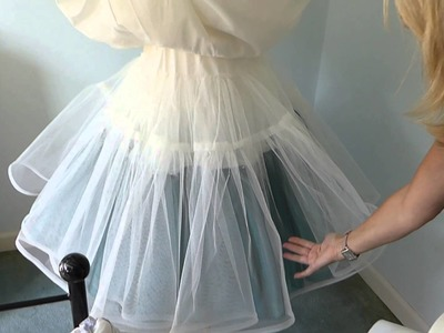 How to make an underskirt for a wedding dress