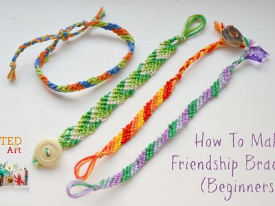 How to Make Friendship Bracelets Beginners   Diagonal Pattern