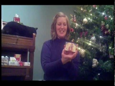 How to Make Gift Boxes from Christmas Cards