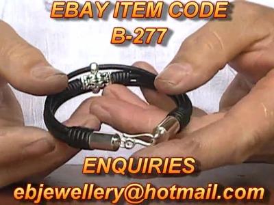 How to make Pulsera de Cuero Men Leather Bracelet B-277