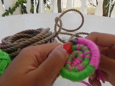 Indian basket weaving part 1 starting the base @catrionaakacat