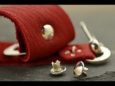 Jewelry How To - Use a Silver Rivet on Leather Bracelets