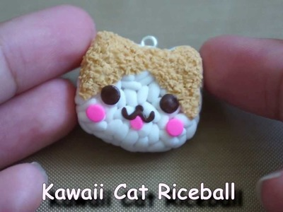 Kawaii Cat Riceball Tutorial [[Polymer Clay]]