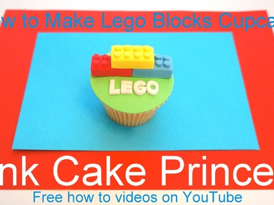 Lego Cupcakes! How to Make a Lego Blocks Cupcake