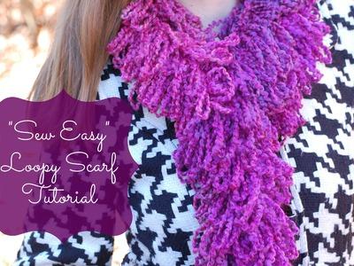 Loopy scarf sewing tutorial
