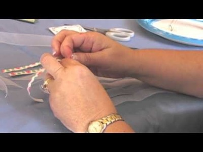 Make A Fancy Ribbon Ponytail Holder by HairHardware.com