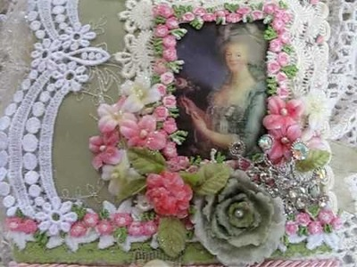 Marie Antoinette Fabric Journal