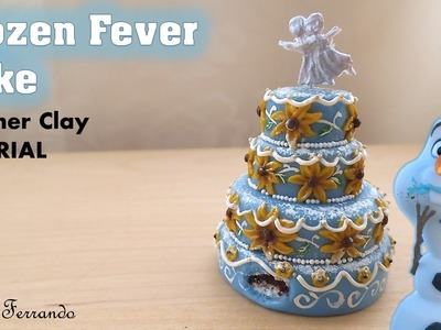 Miniature Polymer Clay Frozen Fever Cake Tutorial