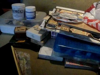 My Couch Art Supplies for Art Journaling