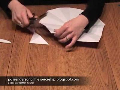 Paper star lantern tutorial