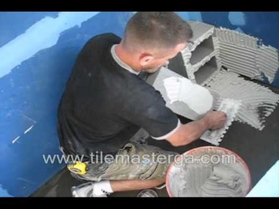 "PART 1. How to build & waterproof shower bench ""seat"" - installation from scratch - cement blocks."